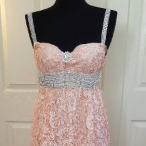 Custom Order Gatsby Style Lace Blush Wedding Gown